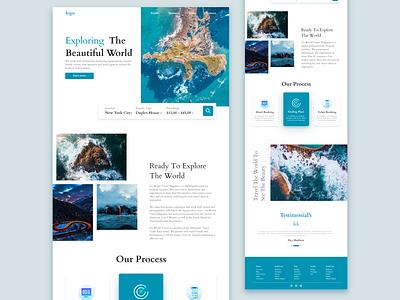 travel website design vector branding logo ui clean minimal illustrator illustration graphic design design