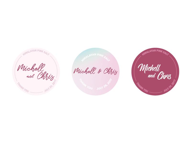 Wedding Favor Stickers By Julia Liang Dribbble Dribbble