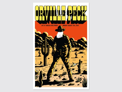 Orville Peck at Amoeba Hollywood poster risograph riso