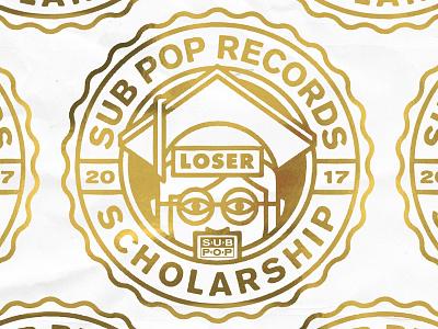 Sub Pop Loser Scholarship 2017 loser gold logo sub pop type
