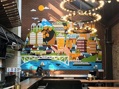 Redhook Brewlab Murals seattle redhook beer mural