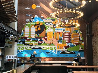 Redhook Brewlab Murals