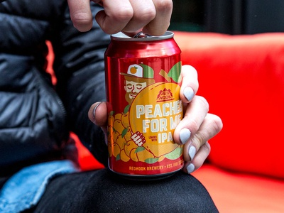 Redhook Peaches for Me IPA Cans