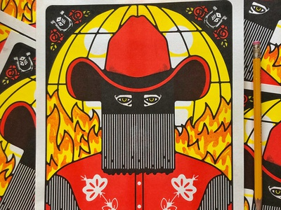 Orville Peck at Third Man flyer riso third man orville peck