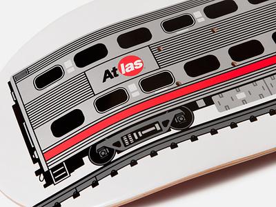 Atlas CalTrain Deck vector illustration skateboard graphics atlas skateboard