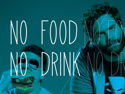 No Food / No Drink university of minnesota drink food college lab poster