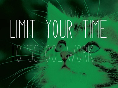 Limit Your Time university of minnesota cat college lab poster
