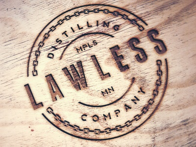 Lawless Distilling Company booze liquor distilling lawless logo