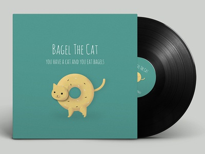 Bagel The Cat cover vinyl music mockup bagel cat art album