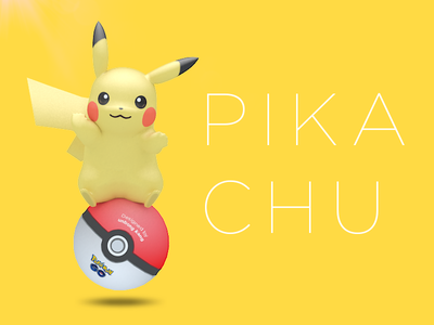 Pikachu artwork 3d character go pokemongo pokemon pikachu
