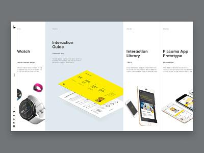 Web Portfolio horizontal portfolio web personal website ux ui typography page layout branding