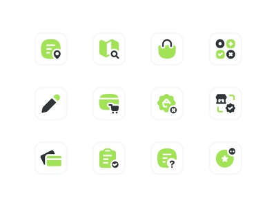Toktok Icon Pack drink icon food icon food and drink mobile app app design ui illustrator illustration art illustration food delivery app food app icon set icon design iconography icons icon