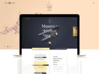 Tavan Nuden Brand Landing Page Concept