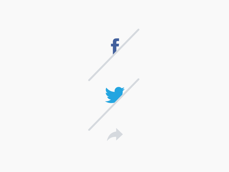 Click Share Button logo illustration design news ui minimal app design share buttons button states more icon morecolor button design share market shared twitter facebook button animation share button share