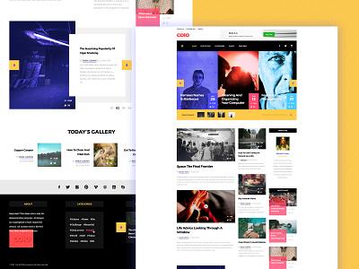 COLO website newspaper news feed header slider list grid post layout user experience user interface blog design blog post blog site webdesign web news
