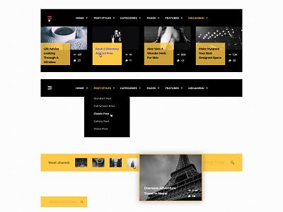 Header widgets header widgets widget hamburger simple ux ui web design web