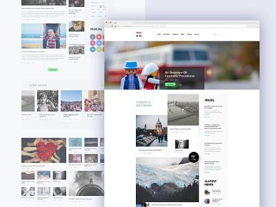 NOAH Blog design website design search bar blogger blogging social sidebar slider layout uxui ux ui userinterface web design news blog post blog design web blog
