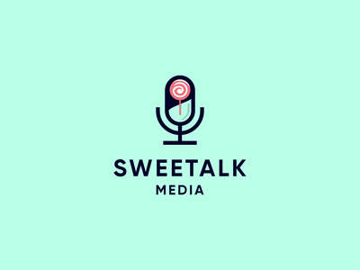 sweetalk unique design grapich designs vector podcast logo podcast unique logo combination typography logo designs logo designers logo illustration icon flat design branding