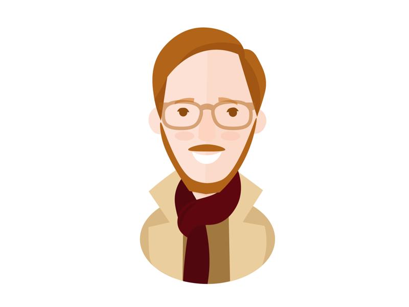 Joe the Sherlock coat illustration sherlock face dude characters beard avatar