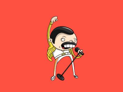 Ilustración Freddie Mercury