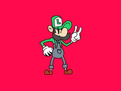 Ilustración Luigi adobedraw art luigi illustration