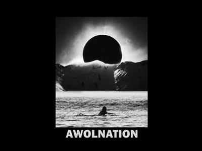 Awolnation - Eclipse galaxy surf sea design merch awolnation