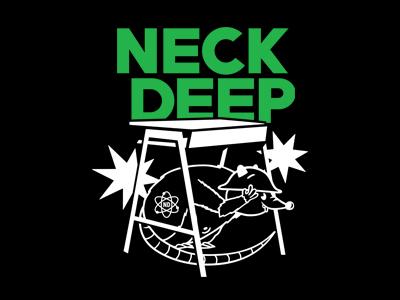 Neck Deep - Rat Desk uk pop punk neck deep merchandise band merch merch graphic design design