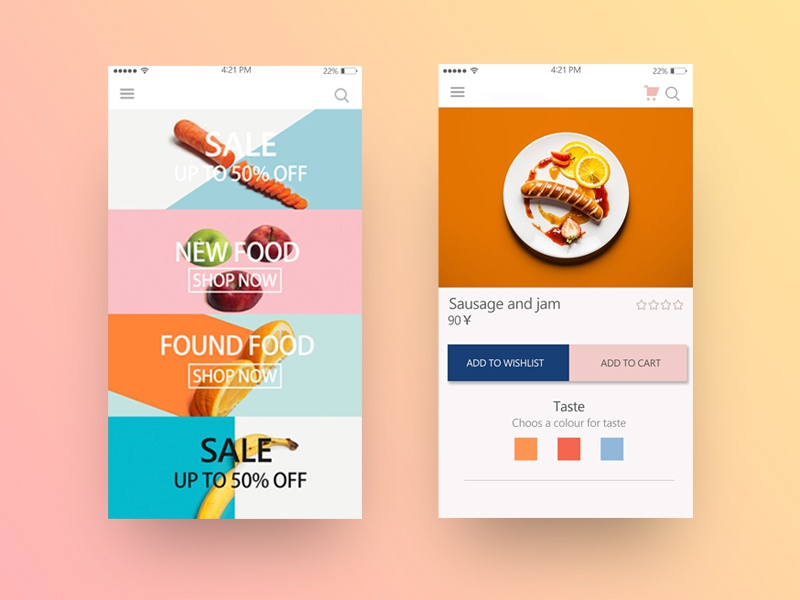 My First Shot debut dribbble ui ux food first shot