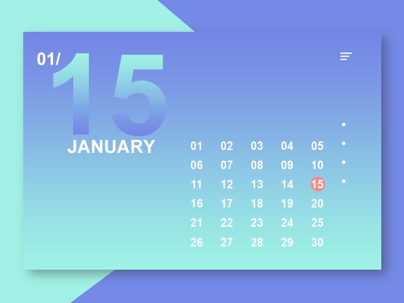 Calendar practice. ux ui calendar