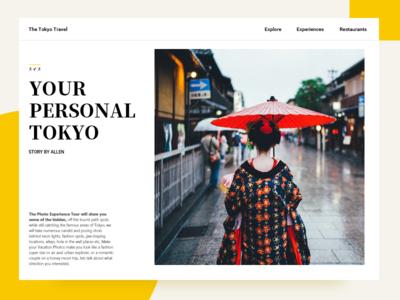 The Tokyo Travel branding poster web app design ui