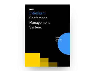 Intelligent Conference Management System poster web cover design