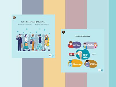 Covid-19 Banners graphic design design colorful