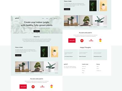 Plant Shop Landing Page visual design plant shop ui design