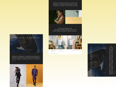 Modelling and Fashion Agency Landing Page modelling agency fashion agency visual design ui design