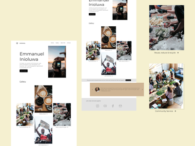 Humanity Photography Website Concept. visual design photography colorful ui design