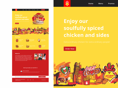 Landing Page Redesign eatery colorful visual design ui design