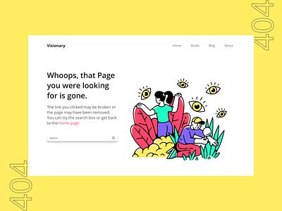 Error 404 Page design visual design error 404 colorful