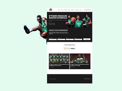 Nigerian Basketball Team Landing Page basketball visual design ui design