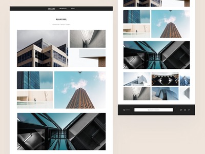 Architecture Platform Landing Page landing page visual design ui design
