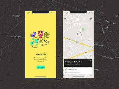 Cab Driving App UI mobile app ui design visual design