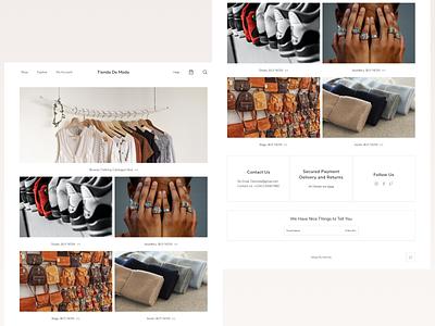 Fashion Store Landing Page ui landing page visual design ui design