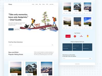 Hiking Landing Page ui landing page ui design visual design
