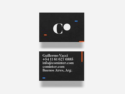 Cominter Branding editorial typography type logos logotype branding design identity logo brand