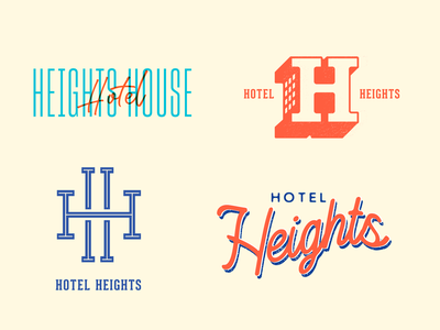 Hotel Heights Logo typography type design lettering logos logotype identity branding brand logo