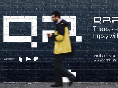 QRPAL bitcoins qrcode pixel logos type design logotype identity branding logo brand