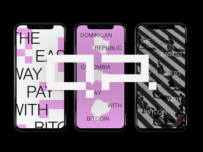QRPAL qrcode pixel bitcoins type logos logotype brand typography branding identity design logo
