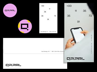 QRPAL brand design pixel bitcoin branddesign designer type logos logotype identity branding logo brand design