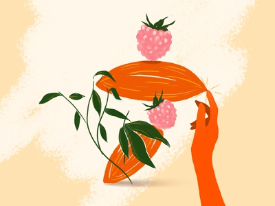Balance chocolate fruits design graphicdesign food illustration set instalation veganfood food vegan illustration
