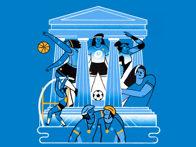 Argentine Olympic Committee sports olympicgames olympic editorial design illustration illuss animation
