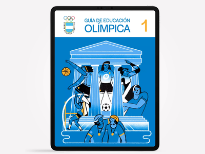 Argentine Olympic Committee athletes sports animation editorial motion graphics olympicgames olympic design illustration